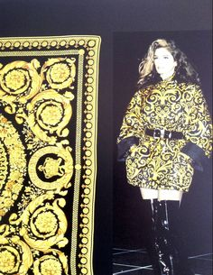 Gianni Versace Baroque Printed Silk Raincoat Fall 1991 image 3