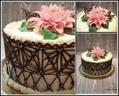 Znalezione obrazy dla zapytania koronka czekoladowa na tort
