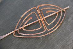 Hair slide, hair barrette, hair pin, hair, hair clip, Ancient Greek motif antique copper hair barret