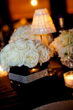 Cheap Wedding Reception Ideas | Centros de mesa de varios colores: Inspírate! [Gallery]