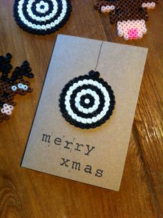 Handmade Hama Bead Christmas Card