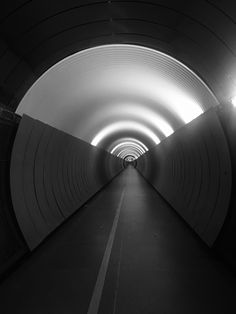 The Brunkeberg Tunnel in Stockholm - a 231 metre long passageway for pedestrians. The tunnel was inaugurated in 1886 by King Oscar II.