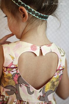 Sweetheart Dress Pattern - love the back detail! Maybe on adult or teen dress too?