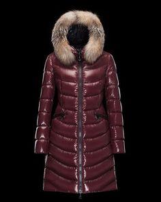 MONCLER APHIA DOUDOUNES LONGUES – FEMME – AUBERGINE. Long Jackets For ... 5061ad05cf1