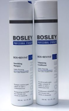 BOSLEY Professional Strength Visibly Thinning Nourishing Shampoo Volumizing Conditioner 10 oz by Bosley Nourishing Shampoo abd Volumizing Conditioner. $46.00. Promotes healthy hair follicle. Rejuvenating sulfate-free cleanser. Helps remove debris like D.H. T.(hormones) from the hair and scalp.. Helps remove debris like D.H.T. from hair and scalp which prevents hair growth and follicle blockage. Promotes healthy hair growth