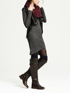 This Tildon ruched long sleeve dress is so versatile. Wear it with layers or as is. Love it!