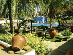 Gardens of Hotel Tropical Refuge in Playa El Agua, Margarita Island, Venezuela