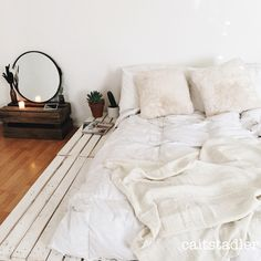 Pallet bed on floor