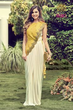 12 Unique And Trendy Festive Wear Outfits Under INR - Designer Dresses Couture Indian Fashion Dresses, Indian Gowns Dresses, Dress Indian Style, Indian Designer Outfits, Indian Wear, Lehnga Dress, Lehenga Choli, Anarkali, Saree Blouse