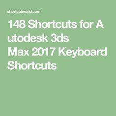 148ShortcutsforAutodesk 3ds Max2017 Keyboard Shortcuts