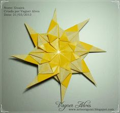 Art`s Origami: Mandala Guaíra - Tutorial