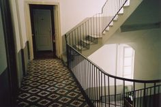 staircase at Hotel Central, Bastia