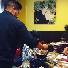 Sirviendo nuestro primer #sukiyaki! #hanakura