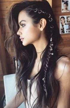 Side braids and hair rings by Brittany Sullivan
