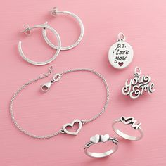 Treat yourself or your loved one to heart rings, charms and more styles under $75. #ValentineGift #JamesAvery Heart Rings, Avery Jewelry, James Avery, Tiny Heart, Initial Charm, Trendy Jewelry, Ankle Bracelets, Valentine Gifts, Gift Guide