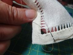 Today, I'd like to show you how to make zig-zag bundles in your drawn thread work. It helps to understand basic hemstitch before moving on to zig-zags, so you mMy TAST hems for March were all based on a simple drawn thread method.Finish for Needlework Hardanger Embroidery, Embroidery Thread, Cross Stitch Embroidery, Hand Embroidery Designs, Embroidery Patterns, Sewing Hacks, Sewing Projects, Sewing Tips, Sewing Tutorials