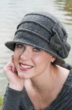 Kirsten Grey Cloche Hat