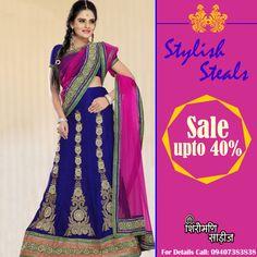 #Shop outstanding collection of Designer #Sarees and #Lehenga Chunni only at Shiromani Sarees.