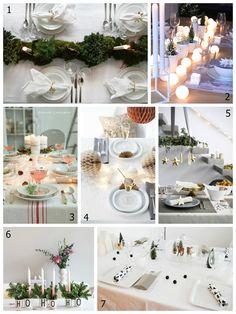 7 decoraciones de mesas para #navidad. #decoracion #decoration #tablessettings #tablewares #Noel #Christimas