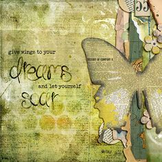 Give wings to dreams (Melita Bloomer). Art Journal Pages, Journal Layout, Art Journaling, Mixed Media Journal, Mixed Media Art, Altered Books, Altered Art, Altered Canvas, Art Journal Inspiration