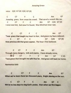 Ukulele Songs, Guitar Chords, Easy Electric Guitar Songs, Guitar Classes, Lead Sheet, Music Lessons, Amazing Grace, Piano, Sheet Music
