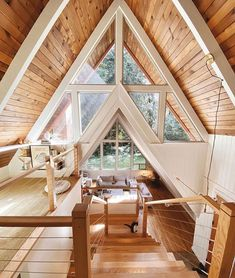 Nudity and Nerdery A Frame House Plans, Cabin House Plans, A Frame Cabin, Tiny House Cabin, Cabin Homes, Log Homes, Cozy House, Tiny Homes, Cabin Design