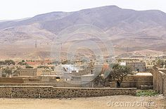 View on the side dirty and destroyed city Akdaz in Morocco