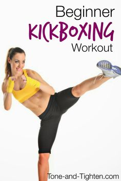 http://leanwife.com/kickboxing-training/  Beginner Kickboxing Workout on Tone-and-Tighten.com - a full 30 minute workout for those new to kickboxing. #fitness #workout #cardio