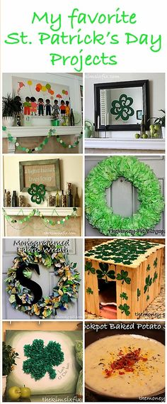My Favorite St. Patrick's Day Crafts and Decor (Flashback Friday) and a Giveaway Winner via www.TheKimSixFix.com