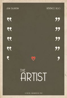 The Artist minimal movie poster.