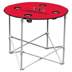 Arizona Cardinals Round Tailgate Table