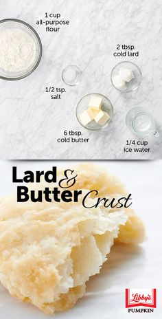 The flavor you get from the butter + lard pie crust combo is winning a lot of… Pie Dough Recipe, Pie Crust Recipes, Pastry Recipes, Baking Recipes, Crisco Pie Crust Recipe, Lard Pie Crust, Homemade Pie Crusts, Homemade Butter, Butter Pie