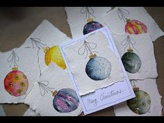 Watercolour Christmas Cards Tutorial - YouTube
