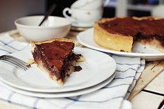FoodLover: Koláč s hruškami a čokoládou Yami Yami, Chocolate Pies, Sweet Recipes, Pear, Sweet Tooth, Cooking Recipes, Sweets, Fresh, Dining
