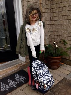 Ikea Christmas Door Mat | Old Navy Backpack | Girls Pink Hunter Boots | Justice Snowflake Sweater