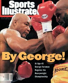 Image result for george foreman sets boxing record when he knocked out michael moore