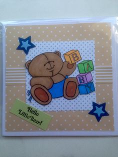 Baby card Baby Cards, Projects, Handmade, Log Projects, Blue Prints, Hand Made, Craft, Handarbeit
