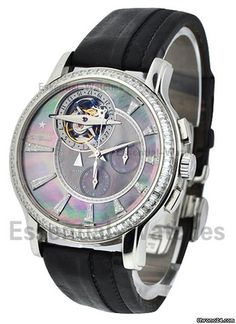 Zenith Academy / Tourbillon Mens $ 159,000 #Zenith #watch #watches #chronograph platinum case with leather bracelet and automatic movement