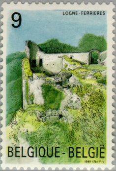 Sello: Logne Castle, Ferrieres. (Bélgica) (Tourism) Mi:BE 2380,Sn:BE 1318,Yt:BE 2329,Bel:BE 2328