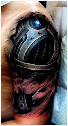 Cool Bio-mechanical Tattoo designs: 3d Biomechanical Tattoo Ideas For Men On Sleeve ~ Tattoo Design Inspiration