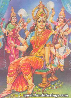 Goddess Shakthi, Saraswathi and Sri Lakshmi