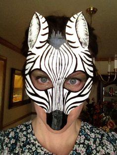 Máscara de cebra, traje de cebra, cebra del colgante de pared