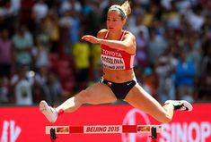 Denisa Rosolova of the Czech Republic competes in the Women's 400 metres hurdles heats during day two of the 15th IAAF World Athletics Championships Beijing 2015 at Beijing National Stadium on August 23, 2015 in Beijing, China. - 583 of 1443