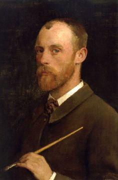 "Sir George Clausen (1852-1944) Portrait of the Artist Oil on canvas 1882 31.1 x 21.3 cm (12.24"" x 8.39"")"