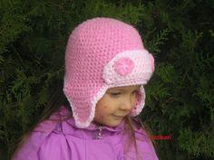 Crochet aviator hat for girl