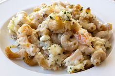 shrimp & feta mac and cheese