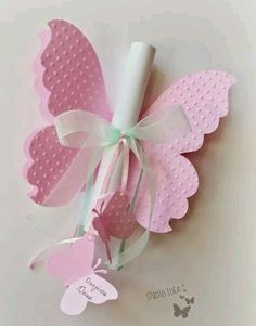 Butterfly invitation for girls birthday/baby shower