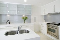 kitchen silver splashbacks - Google Search