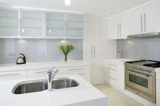 kitchen silver splashbacks - Google Search
