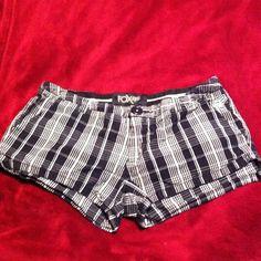 Black plaid Fox Racing shorts Super cute and comfy black plaid Fox Racing shorts hardly worn. Fox Racing Shorts